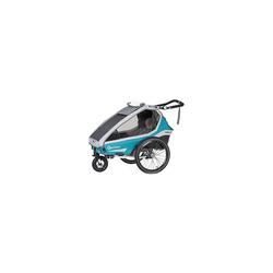 Qeridoo Fahrradkindersitz Kidgoo2 2020 Grau blau