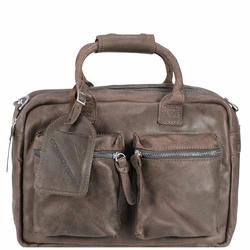 Cowboysbag Handtasche Leder 41 cm elefant grey