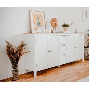 Bergen Landhaus Sideboard weiß 180 cm