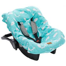 Sommerbezug Babyschale, Fuchs hellblau  Kinder