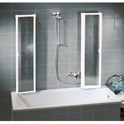 Schulte Badewannenaufsatz, nach Gebrauch flach an die Wand klappbar, Montage ohne Bohren weiß Duschkabinen Duschen Bad Sanitär