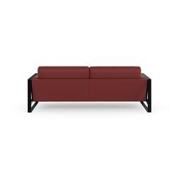 machalke® 3-Sitzer frame, Ledersofa mit Kufe in Schwarz rot