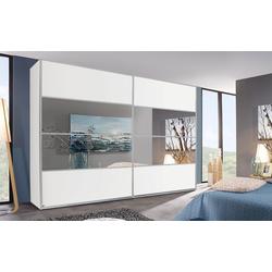 Rauch Steffen Schwebetürenschrank Juwel in weiß matt/Spiegel, B/H ca. 319 x 235 cm
