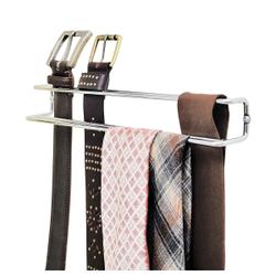 WENKO Krawatten- und Gürtelhalter, Ordnungshelfer für Gürtel und Krawatten, 1 Stück