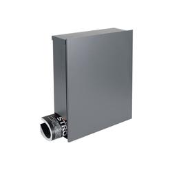 MOCAVI Briefkasten Design-Briefkasten mit Zeitungsfach grau-aluminium (RAL 9007) MOCAVI Box 111 Wandbriefkasten 12 Liter