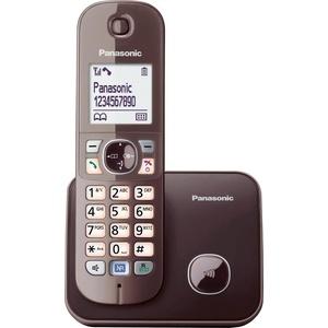 Panasonic KX-TG6811GS Schnurloses DECT-Telefon (Mobilteile: 1, mit Anrufer- und Wahlsperre) braun