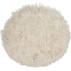 Wollteppich FLOKOS 1250, THEKO, rund, Höhe 40 mm, Flokati, reine Wolle, handgewebt, Wohnzimmer Ø 200 cm x 200 cm x 200 cm x 40 mm