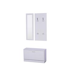 HOMCOM Garderoben-Set 3-teiliges Garderoben-Set