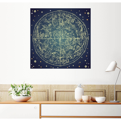 Posterlounge Wandbild, Sternenkarte 70 cm x 70 cm
