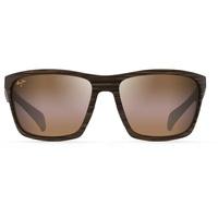 Maui Jim Makoa H804-25W matte brown woodgrain/bronze