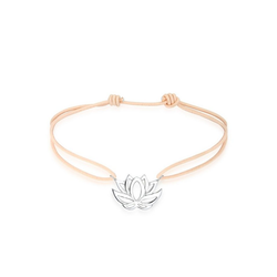 Elli Armband Talisman Blume Lotusblüte 925 Silber Nylon, Lotusblume