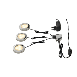 SLV UTIX LED Downlightset, 3er, chrom