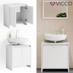 VICCO Waschbeckenunterschrank EMMA Weiß Unterschrank Badschrank Badezimmer