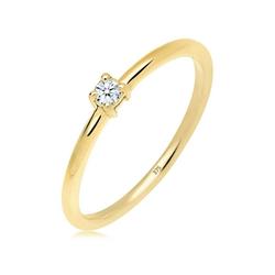 Diamore Diamantring Verlobungsring Diamant 0.06 ct. 375 Gelbgold, Verlobungsring 56