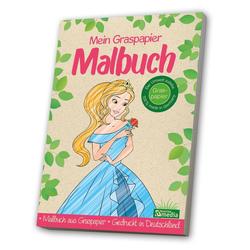 Malbuch Graspapier<BR>Prinzessin: Buch von