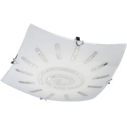 LED Glas Deckenlampe mit Kristallen SONNE KRISTALL