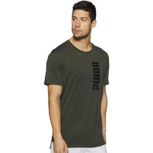 PUMA Herren T-Shirt Energy Triblend Graphic Tee, Forest Night, S, 516937