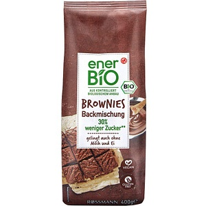 enerBiO BROWNIES Bio-Backmischung 400,0 g