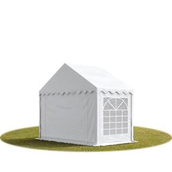 Toolport Partyzelt 3x2m PVC 500 g/m² weiß wasserdicht Gartenzelt, Festzelt, Pavillon