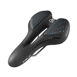 WHEEL UP Fahrradsattel Fahrradsattel Gel Mountainbike MTB Sattel Bequem Comfort Ergonomisch, schwarz-blau