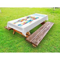 Abakuhaus Tischdecke dekorative waschbare Picknick-Tischdecke, Autismus Welt-Autismus-Tag 145 cm x 305 cm
