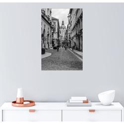Posterlounge Wandbild, Budapest - Blick in eine Gasse mit Kirchturm 61 cm x 91 cm