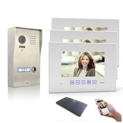 Video Türsprechanlage mit 7 Zoll Monitor Aufputz 3x 7 Zoll Monitor Ja