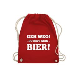 Shirtracer Turnbeutel Geh Weg! Du bist kein Bier! - Festival Turnbeutel - Turnbeutel - Jutebeutel & Taschen, it rucksack