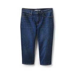 Capri-Jeans Mid Waist, Damen, Größe: S Normal, Blau, Denim, by Lands' End, Walworth Blau - S - Walworth Blau