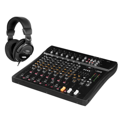IMG Stageline MXR-80 USB Mixer mit Bluetooth Set