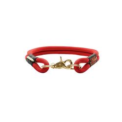 Hunter Hunde-Halsband Oss, Tau rot 2 cm x 60 cm