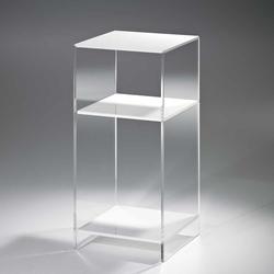 Beistelltisch in Weiß Acrylglas