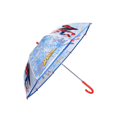 Spiderman Stockregenschirm Kinder Regenschirm, ∅ 73 cm, transparent/blau