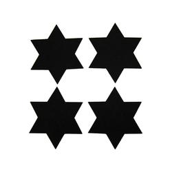 4 Filz Untersetzer Sterne Glasuntersetzer Weihnachtsdeko Adventsdeko - schwarz