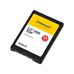 Intenso SATA III Top SSD-Festplatte (256) 400 MB/S Lesegeschwindigkeit, 520 MB/S Schreibgeschwindigkeit, Schnittstelle: SATA III)