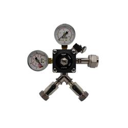 ich-zapfe Druckminderer Druckminderer 2-leitig CO2 für Bier Zapfanlage 3bar