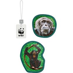 MAGIC MAGS WWF Monkeys, 3-tlg. braun
