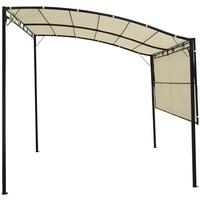 Outsunny Gartenpavillon  3,00 x 2,50 m cremeweiß