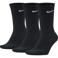 Nike Value Crew 3er Pack schwarz 34-38