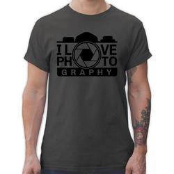 Shirtracer T-Shirt I love Photography - schwarz - Fotografen - Herren Premium T-Shirt 3XL