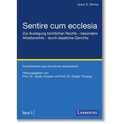 Sentire cum ecclesia als Buch von Anton E. Wirmer