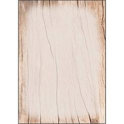 SIGEL Motivpapier Wood Motiv DIN A4 90 g/qm 50 Blatt