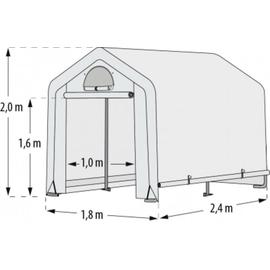 Vitavia Foliengewächshaus Arche S 4,32 m² weiß