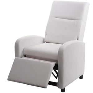 MCW TV-Sessel MCW-H18, Synchrone Verstellung der Rücken- und Fußlehne, Synchrone Verstellung der Rücken- und Fußlehne, Verstellbare Rückenfläche, Klappbare Rückenlehne weiß