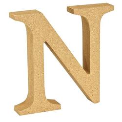 """VBS Buchstaben """"MDF"""" 8 cm x 1,5 cm bunt Buchstabe """"N"""""""