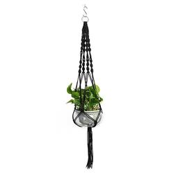 Masbekte Dekohänger, Blumenampel Blumentopf Pflanzen Wohnkultur Topfpflanzgefäß, Höhe ca. 105cm schwarz