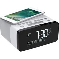 Pure Siesta Charge Radiowecker DAB+, UKW Bluetooth®, USB Akku-Ladefunktion Weiß
