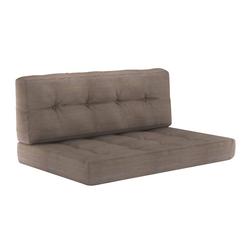 Vicco Palettenkissen Palettenkissen-Set Sitzkissen Rückenkissen 15 cm hoch Palettenmöbel taupe