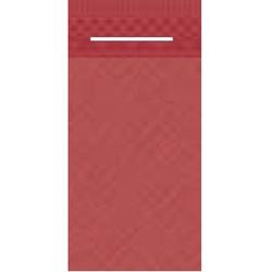 Mank UNI Pocket-Napkins Besteckservierttentasche, 40 x 40 cm, 1/8 Falz, 4-lagig, Farbe: bordeaux, 1 Karton = 4 x 75 Stück = 300 Serviettentaschen