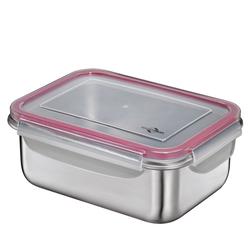 KÜCHENPROFI Lunchbox Brotdose aus Edelstahl 16 x 22 cm 1,8 Liter